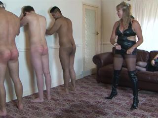 Mother And Daughter - Lined Up Whipping - Femdom Porn