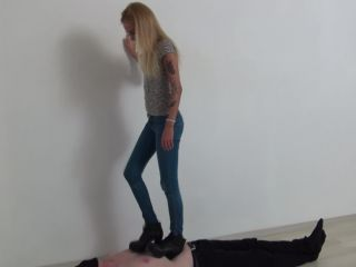 Trample – Foot Fetish Beauties – Candy Trampling in High Heels Boots!
