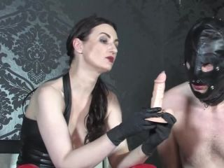 Overknees – GERMAN FEMDOM Lady Victoria Valente – The very intense blowjob bitch training, take it deeper in your mouth
