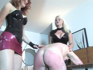 [Femdom 2018] FemmeFataleFilms  Messed Up  Part 2. Starring Divine Mistress Heather and Goddess Jenilee [nipple torment, rubber, spanking, whip]