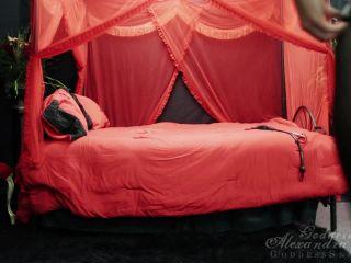 goddess alexandra snow  black leather on red photo shoot  femdom pov