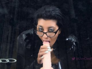 Porn online Livecleo - Sloppy BJ Dildo Spit On Tits Solo Latex