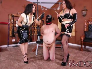 Rubber – ClubDom – Jewell and Tangent Cane the Ass slave
