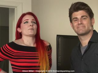 firm hand spanking – alison miller – the challenge – a