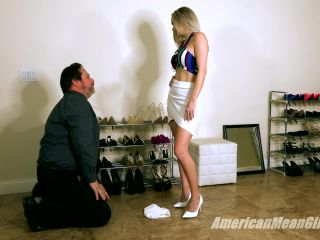 Female Domination – The Mean Girls – Ballbusting The Shoe Store Loser – Goddess Platinum