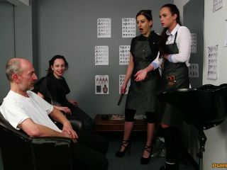 PureCFNM – Abigail Angel, Tindra Frost, Vinna Reed – Hairdresser's Gown