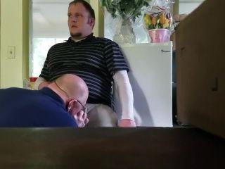 Daddy sucking chubby boy