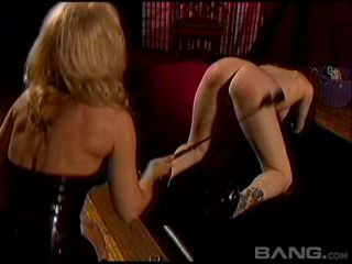 Blonde Dominatrix Works Her Pretty Playmate Over With Sensual Toys