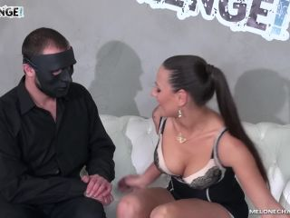 Mealone enjoy well brutal ass fuck with masked gentleman on the sofa