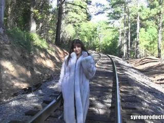 Mistress Aleana's Queendom  Railroad Fur Coat Bullwhipping
