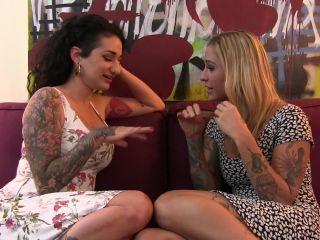 Girl Arabelle Raphael in Arabelle And Kleio Share A Hard Cock