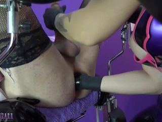 Sissy slave fisted on the gyn chair