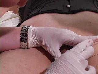 Suturing her Testicles into a Pussy