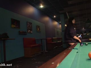 Playing pool at first time!