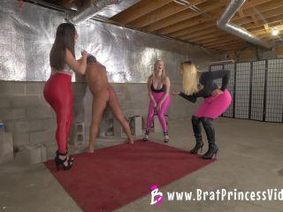 Brat Princess 2 – Three Girls Beat up an Old Man (You are Target Practice)
