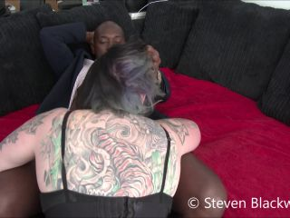 b1ackwood – Sloppy wet blowjob from inked goth chic