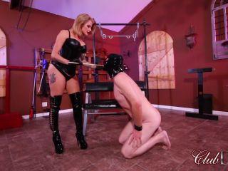 clubdom  goddess joslyn  joslyn's caned slave  bottom spanking