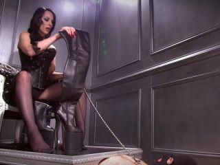 mistress nikita femdom videos: platform boot whore