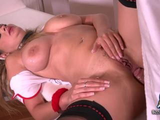 Busty Nympho Nurse Bound, Gagged & Anally Destroyed by her Big Dick Doctor