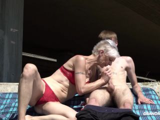 GrandMams presents Blond Gilf Sucking Off Her Stepson