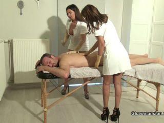 Glovemansion –  Sarah Cute, Coco de Mal – Erotic gloved massage milking Part 1