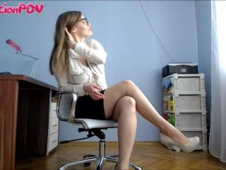 humiliation pov  miss honey barefeet  worship my heels or you're fired  jerkoff encouragement