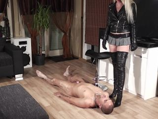 Humiliation – High Heels Goddess – Lady Latisha – Lady Latisha Femdom Bootjob Clip 1