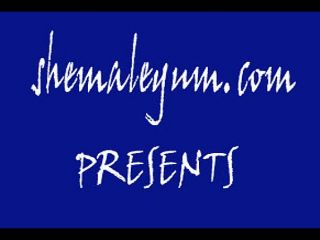 Online shemale video Vicky in black stockings