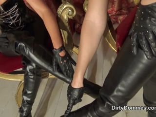Boot Worship – Dirty Dommes – Double boot cleaning duties – Fetish Liza