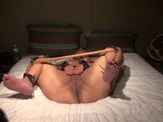 Explosive squirting orgasm of my tied BBW black wife