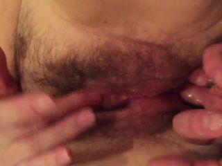 Rubbing big clit and fingering ass till orgasm