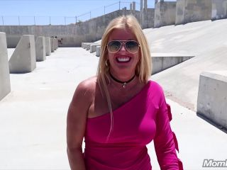 MomPov presents Kerrie – Busty blonde public fun