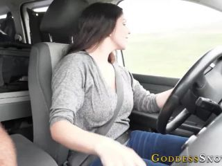 Femdom Handjob In The Car
