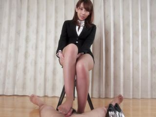 Aya Kisaki – Office Girl Pantyhose Footjob