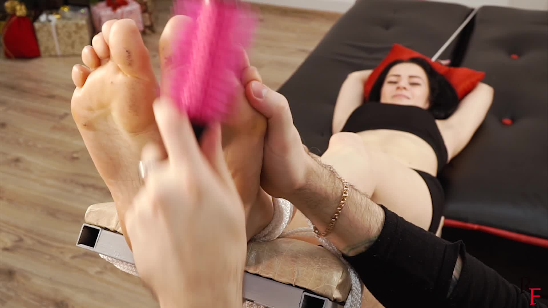 Girl Tied Up Feet Tickled