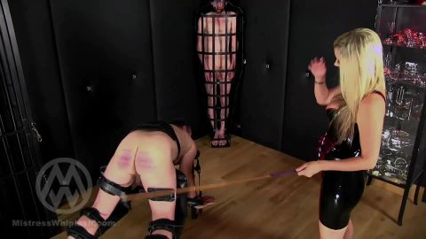 Mistress Nikki Whiplash starring in video (No mercy caning for two naughty slaves part II WL1500) [FullHD 1080P]