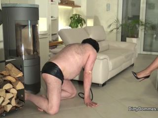 DirtyDommes – Fetish Liza – Brutal face slapped house slave