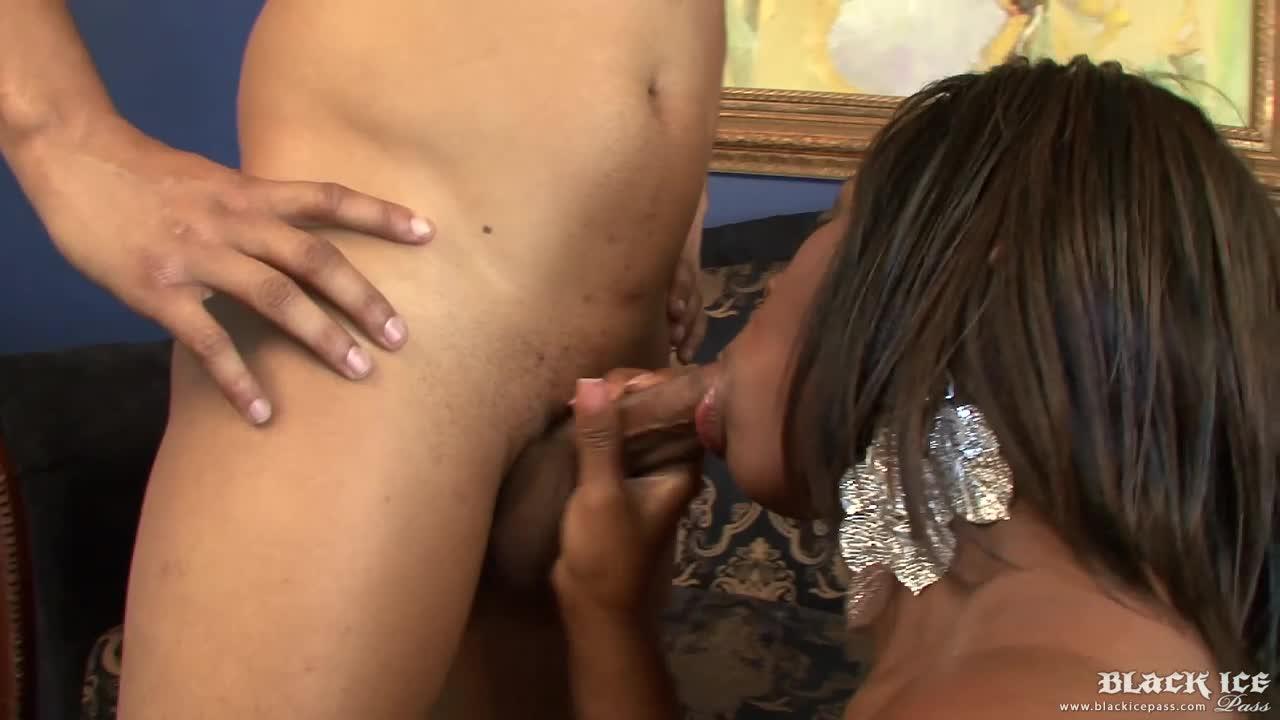 Ebony Riding Dick Backwards