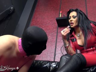 pony fetish Mistress Kennya – Boots and Chastity For The Wanker  – Femdom, Bootlicking, cigarette on bdsm porn