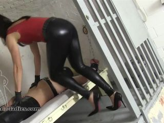 SADO LADIES Femdom Clips  Draining The Prisoner  Starring The Hunteress