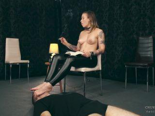 Reader'S Footrest  - smoking fetish - femdom porn raceplay femdom