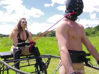 Human Pony – The English Mansion – Paddock Pony Performs – Part 1 – Goddess Serena