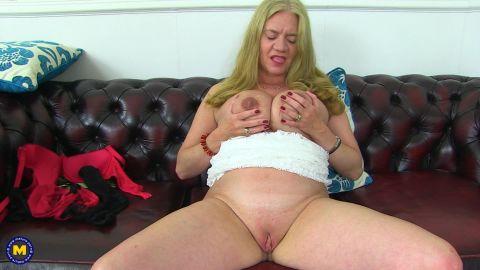 Lily May EU 49 - British big breasted temptress Lily May playing with herself