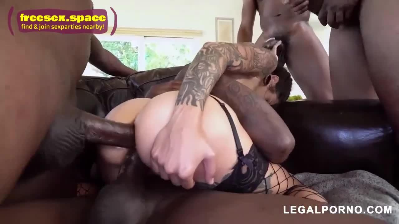 Interracial Double Anal Orgy - xxxgames BBC Gangbang Double Anal Interracial Orgy! - XFantazy.com
