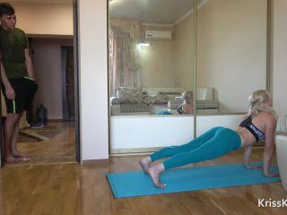 KrissKiss in Yoga Anal Hard Fuck Teen