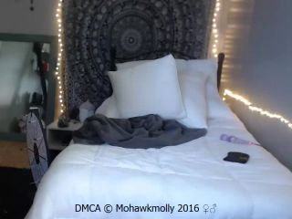 Mohawkmollys double dildo penetration anal and vaginal, webcam teen on toys