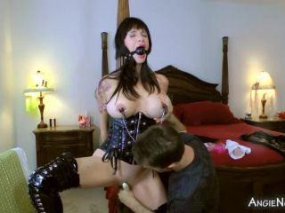 Angie Noir My Son Handcuffed Gagged and Forced Me to CUM