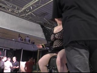 Public Breast Predicament and Sybian_Orgasm Challenge for Titslave Cat