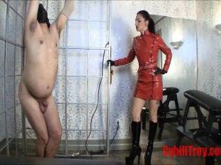 Cybill Troy FemDom Anti-Sex League  Big Boot Ballbusting with Cybill Troy