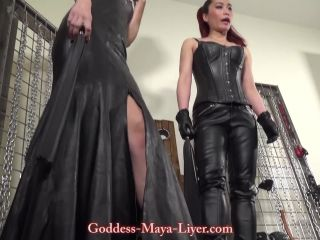 Leather – GODDESS MAYA LIYER – Shoeshine Boy HD – Fetish Liza